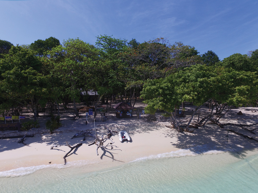 National Park HQ on Koh Rok Nai - Photo by Grenville Fordham