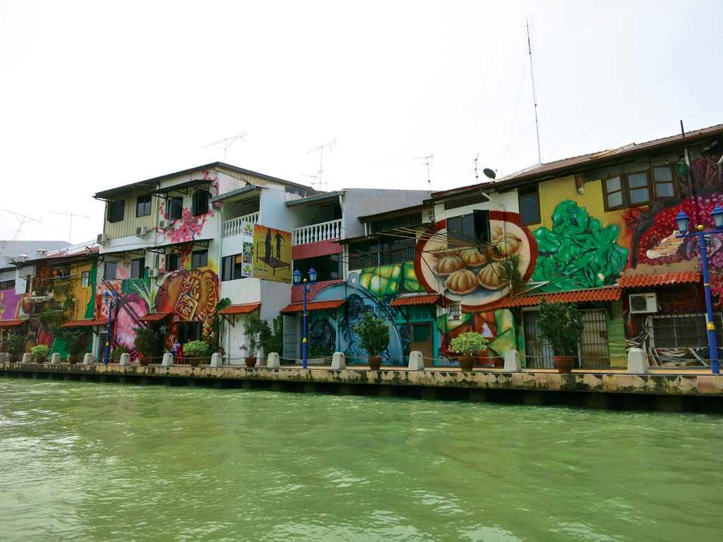 Malacca River artwork - Photo by Bill O'Leary