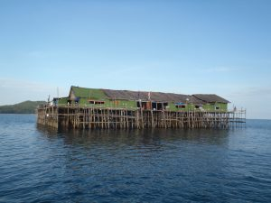 Fishing resorts known locally as 'Kelongs' - Photo by Bill O'Leary