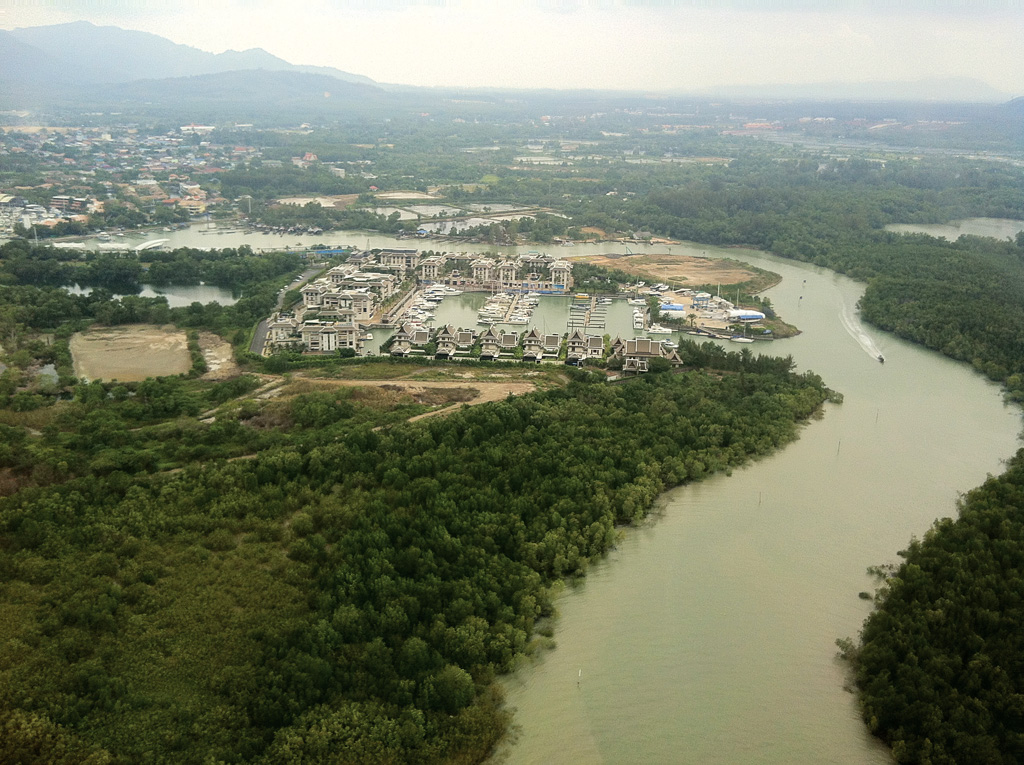 The channel leading to Royal Phuket Marina and then to Boat Lagoon - photo by Grenville Fordham