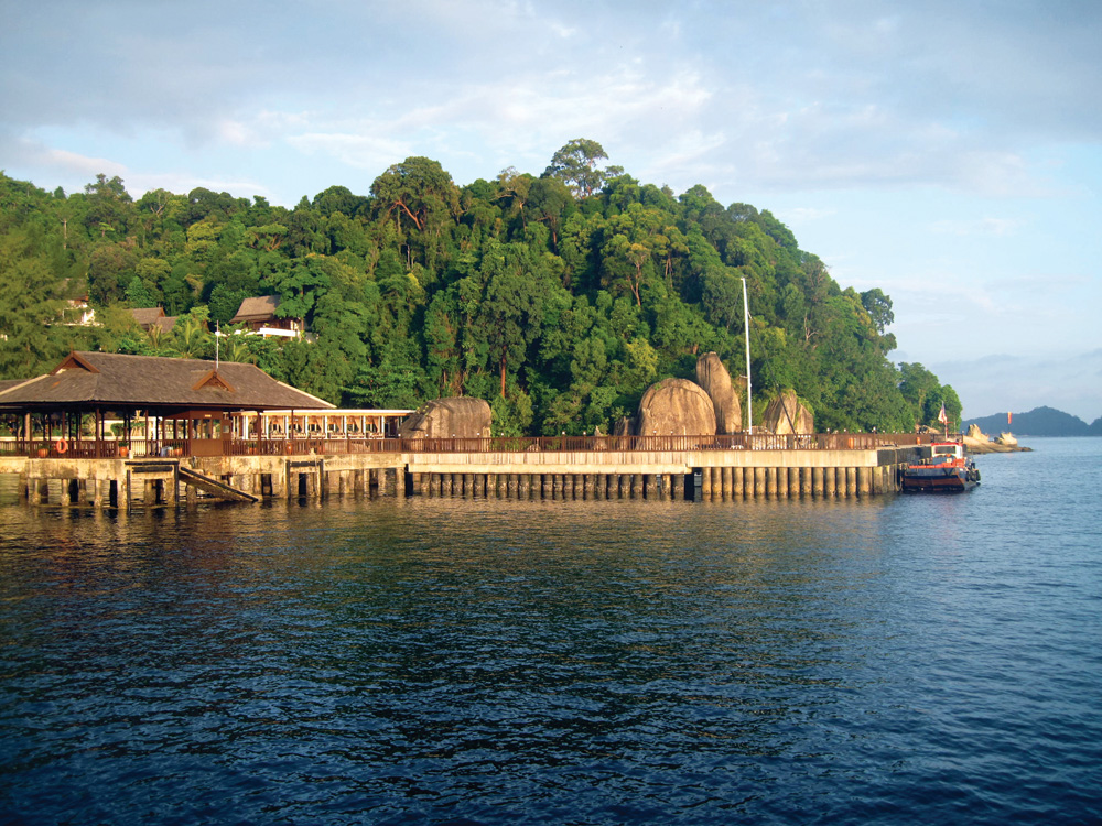 Anchorage at Pangkor Laut - Photo by Bill O'Leary