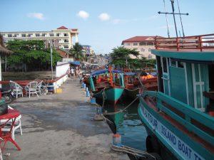 Tourist pier, Cambodia