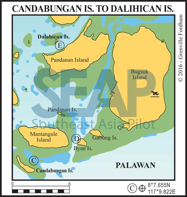 Candabungan Island-to-Dalihican Island, Southwest Palawan