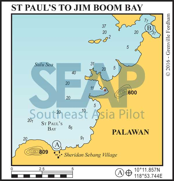 St Paul's to Jimboom Bay, Palawan