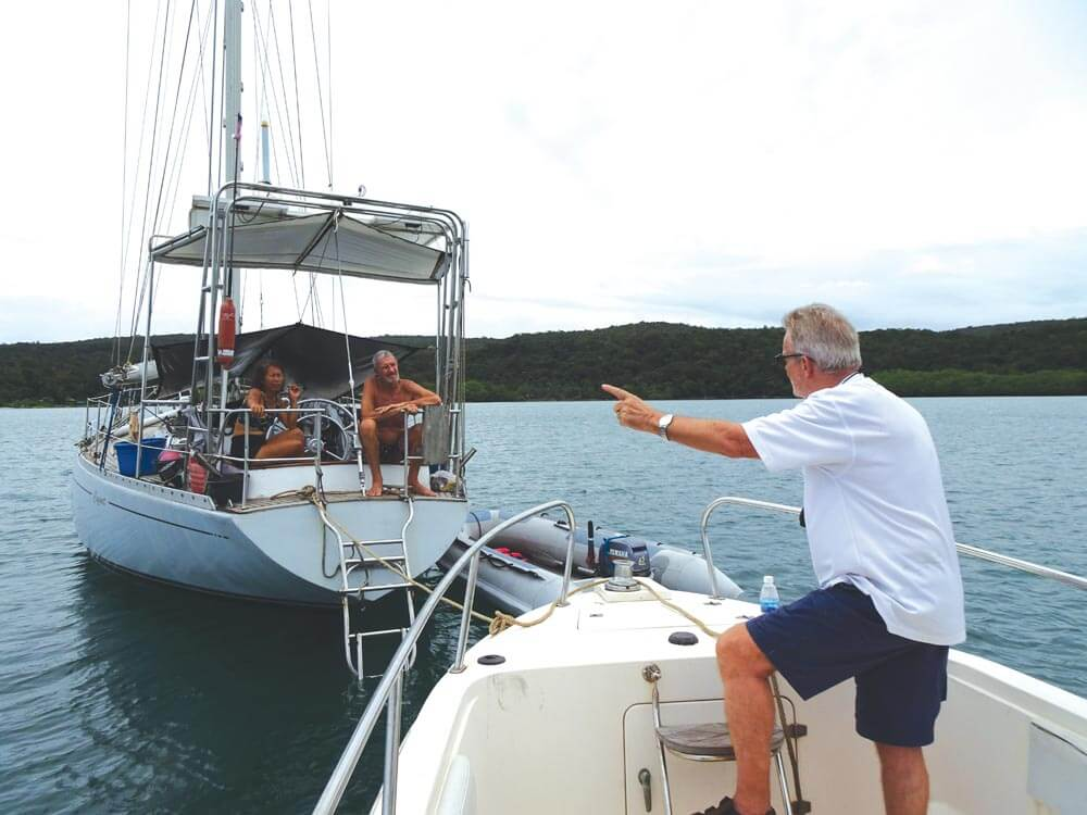 SEAP publisher Grenville Fordham & Sail Cambodia's Capt Ronnie | Photo by Bill O'Leary
