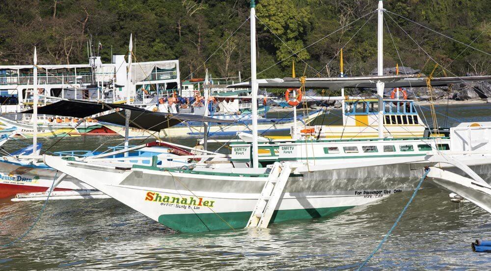Fishing boats at El Nido, Palawan