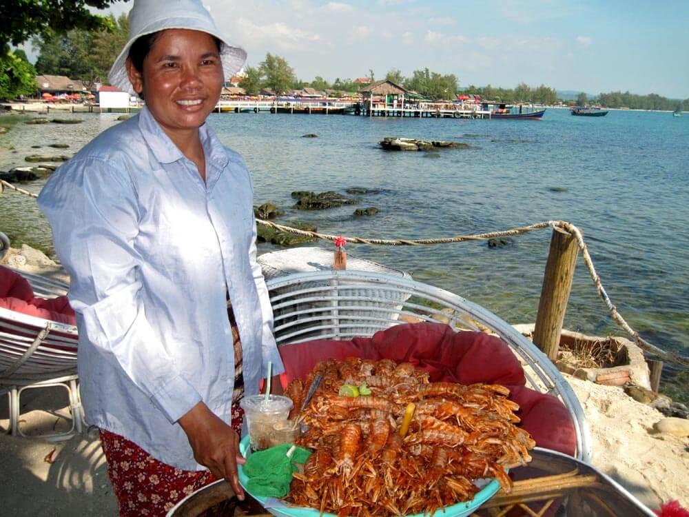 shrimp for sale, Cambodia