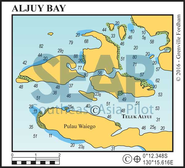 Aljuy Bay on west Waigeo, Raja Ampat