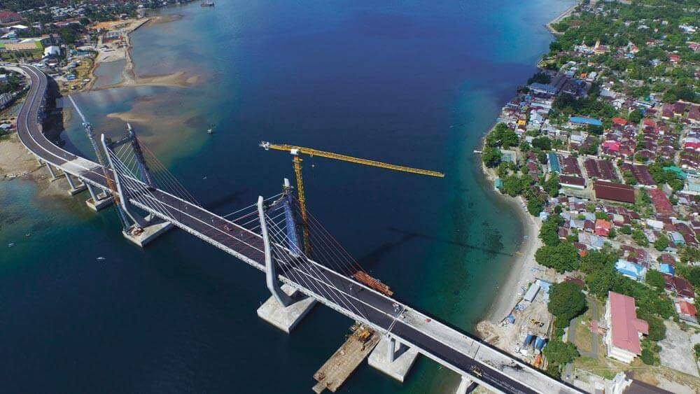 Poka-Galala Bridge across Ambon Bay, connecting both sides of Ambon City