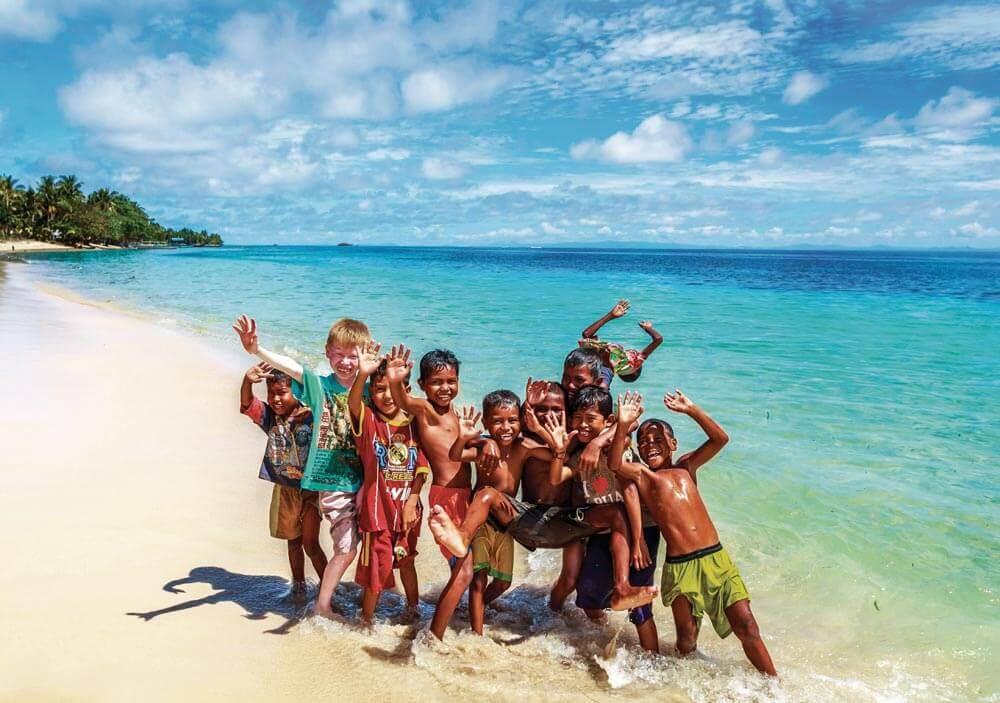 Happy kids in Indonesia