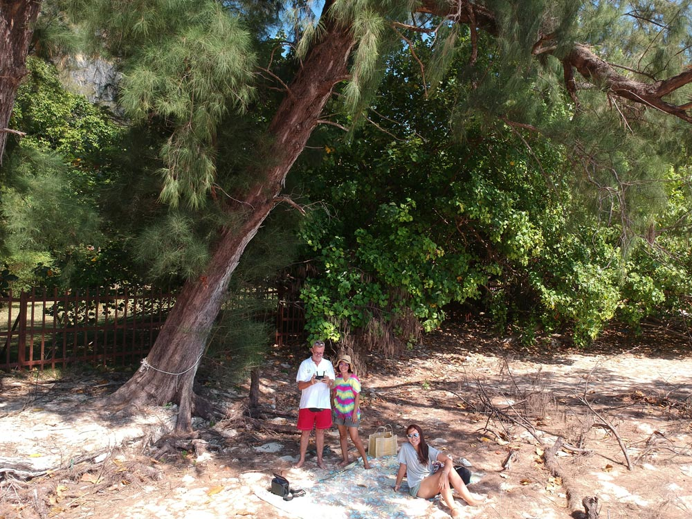 Southeast Asia Pilot co-author and publisher, Grenville Fordham, flying the drone with family on Railay Beach