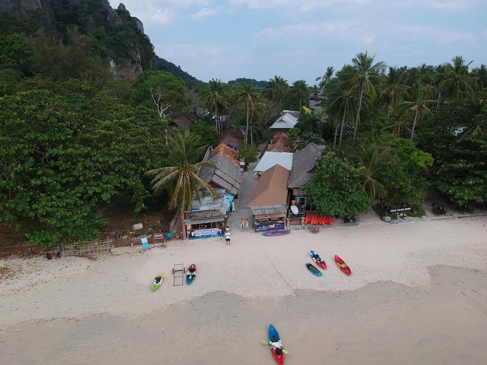 Walking street from Railay Beach to East Railay