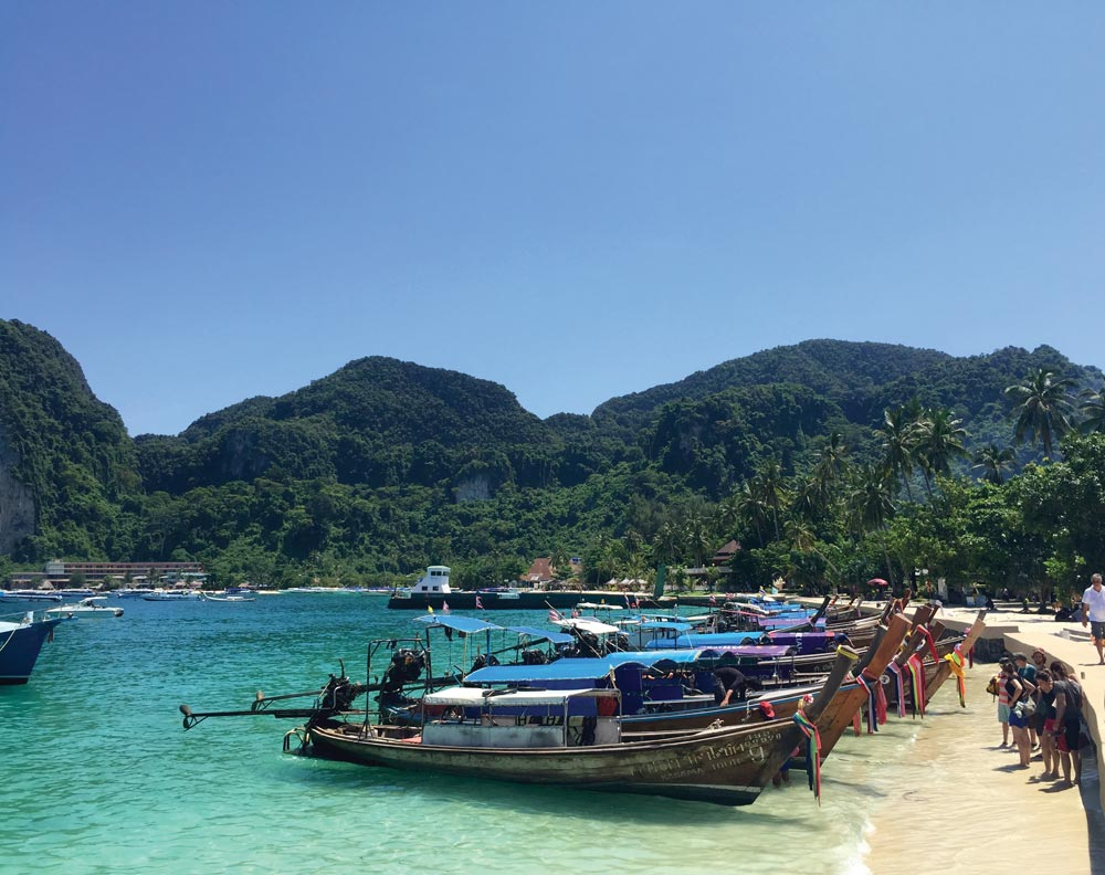 Longtails at Tonsai Bay, Phi Phi Don