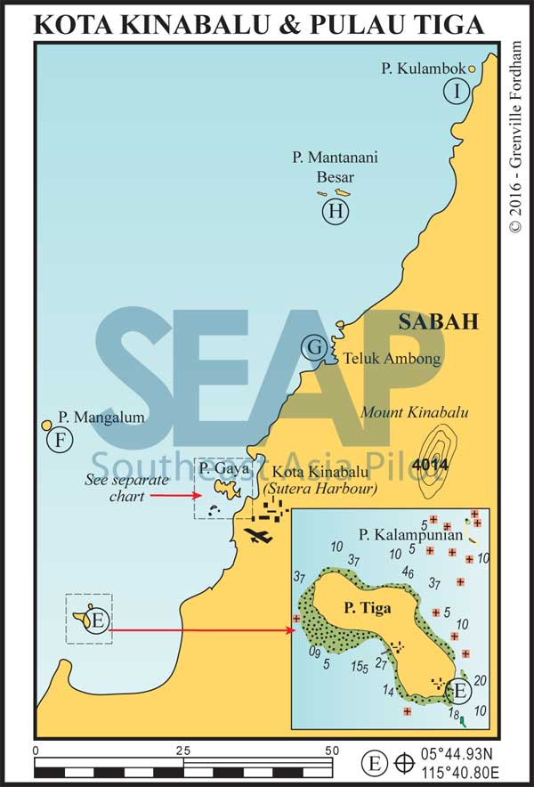 East Malaysia (Borneo) chart