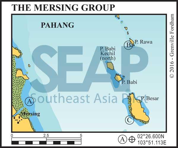 The Mersing Island Group chart