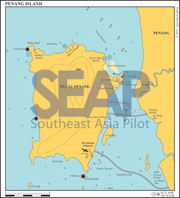 Penang Island chart
