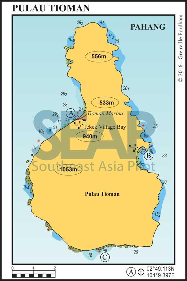 Tioman Island chart
