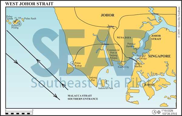 West Johor Strait chart