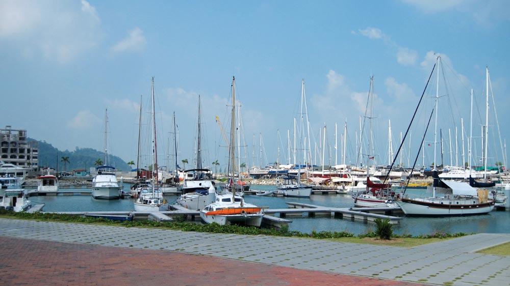 Yachts in the marina at Pangkor