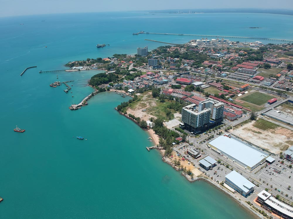 Drone shot of Port Dickson's McDonalds anchorage