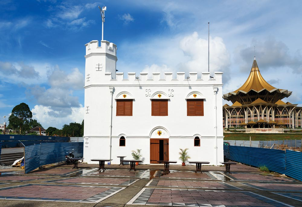 Square Tower at Waterfront in Kuching