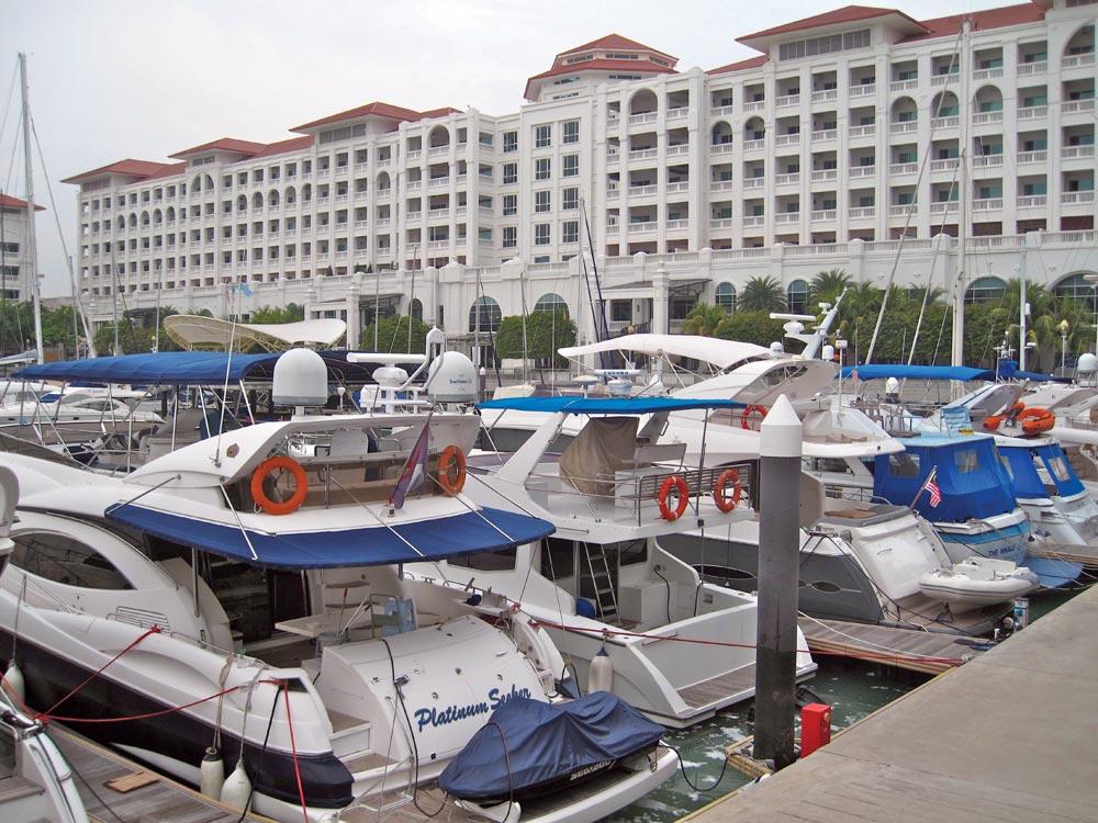 Power boats at Straits Quay, Penang's No#1 marina