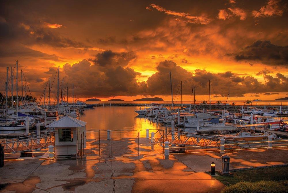 Stunning sunset taken from Sutera Harbour in Sabah