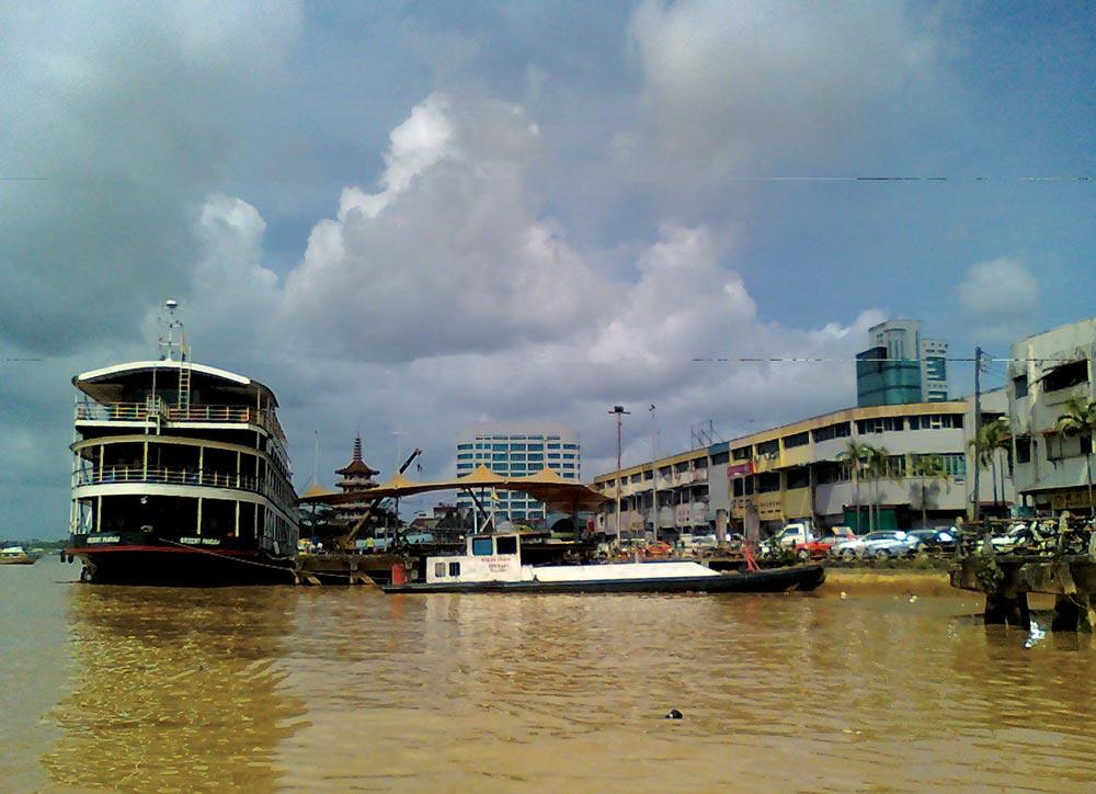 The Rajang River in Sibu City, Sarawak