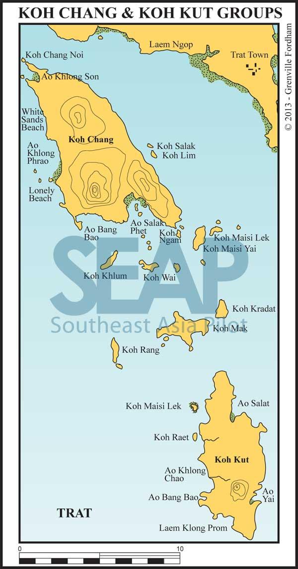 Koh Chang & Koh Kut island groups chart