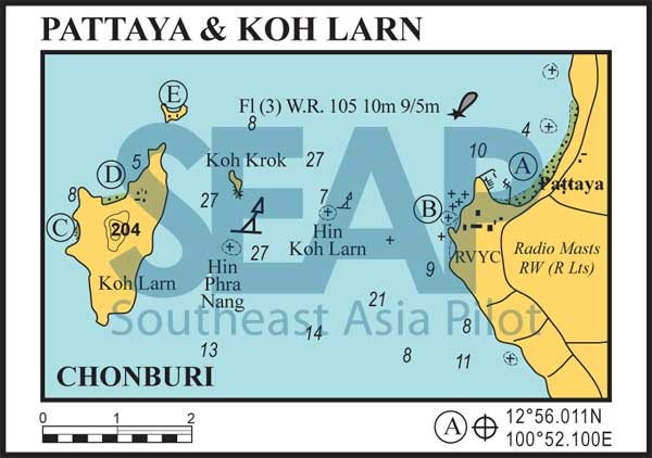 Pattaya and Koh Larn chart