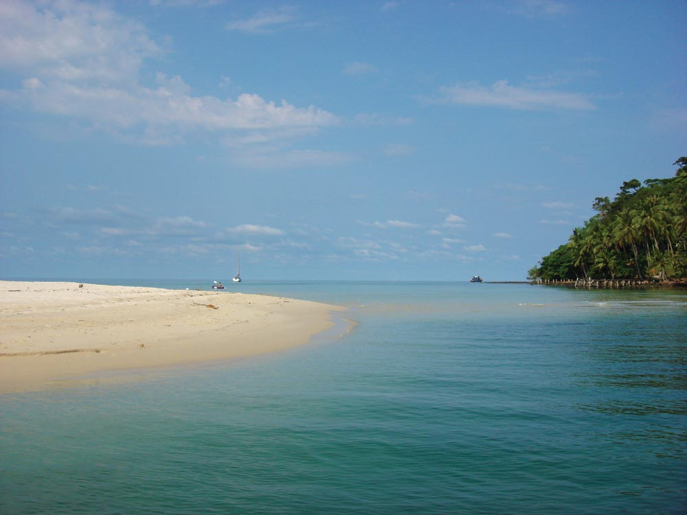 Entrance to one of Koh Kut's larger rivers at Ao Khlong Chao