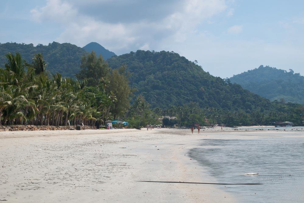 Empty beach at Klong Prao, Koh Chang