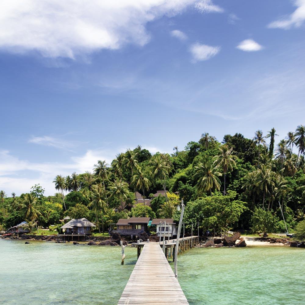 Koh Mak small wooden jetty