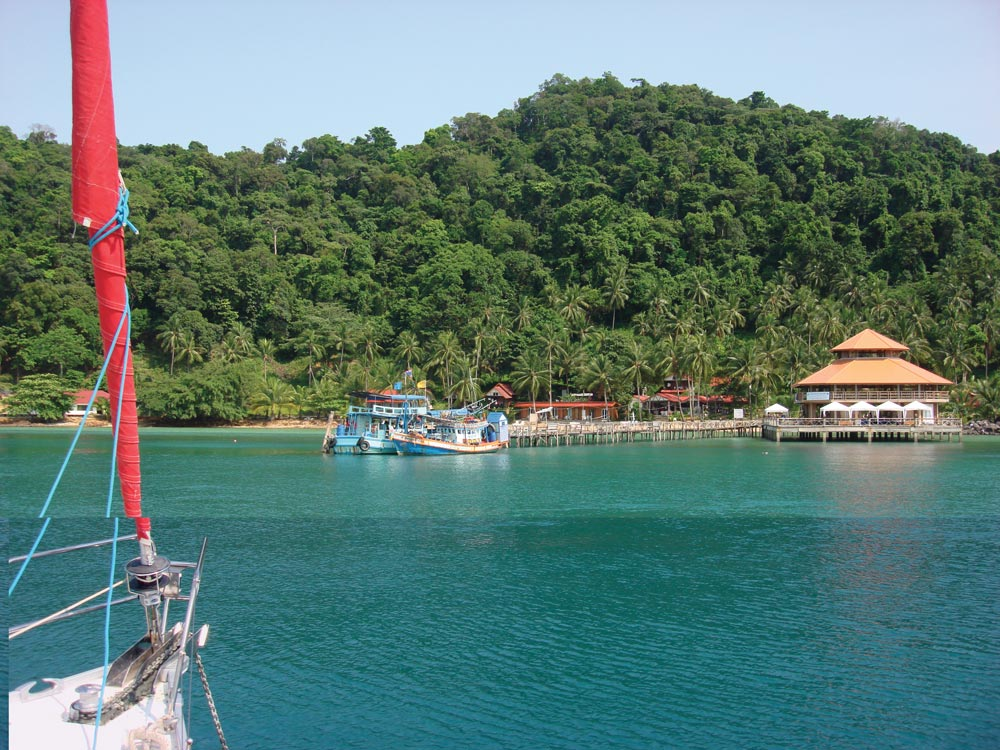 Impressive jetty at Koh Wai