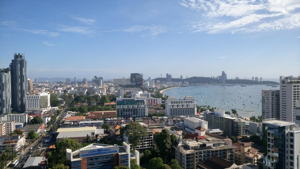 Pattaya by day showing how densely developed the city is