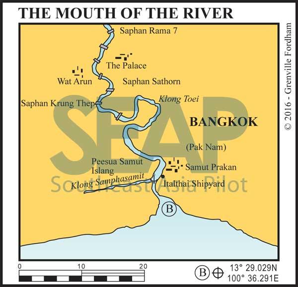 The mouth of the Chao Phraya River, Bangkok
