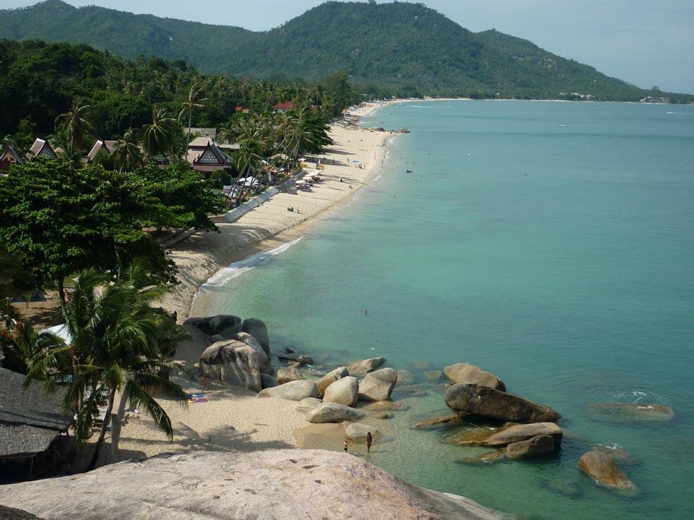 Samui's second busiest tourist beach, Lamai