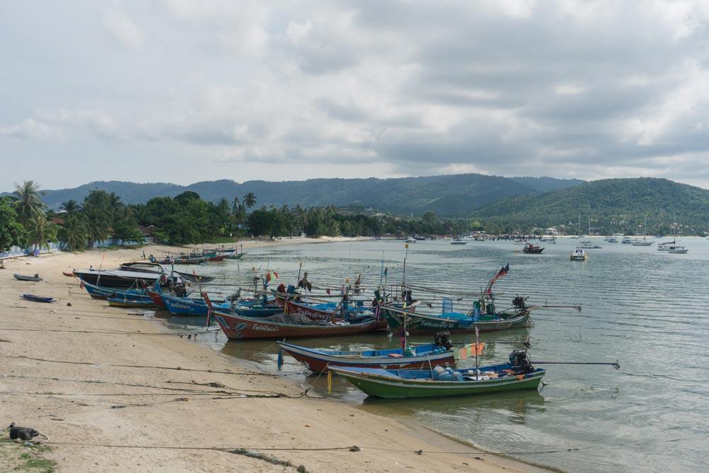 Mixed fleet at Bo Phut, Koh Samui safe harbour