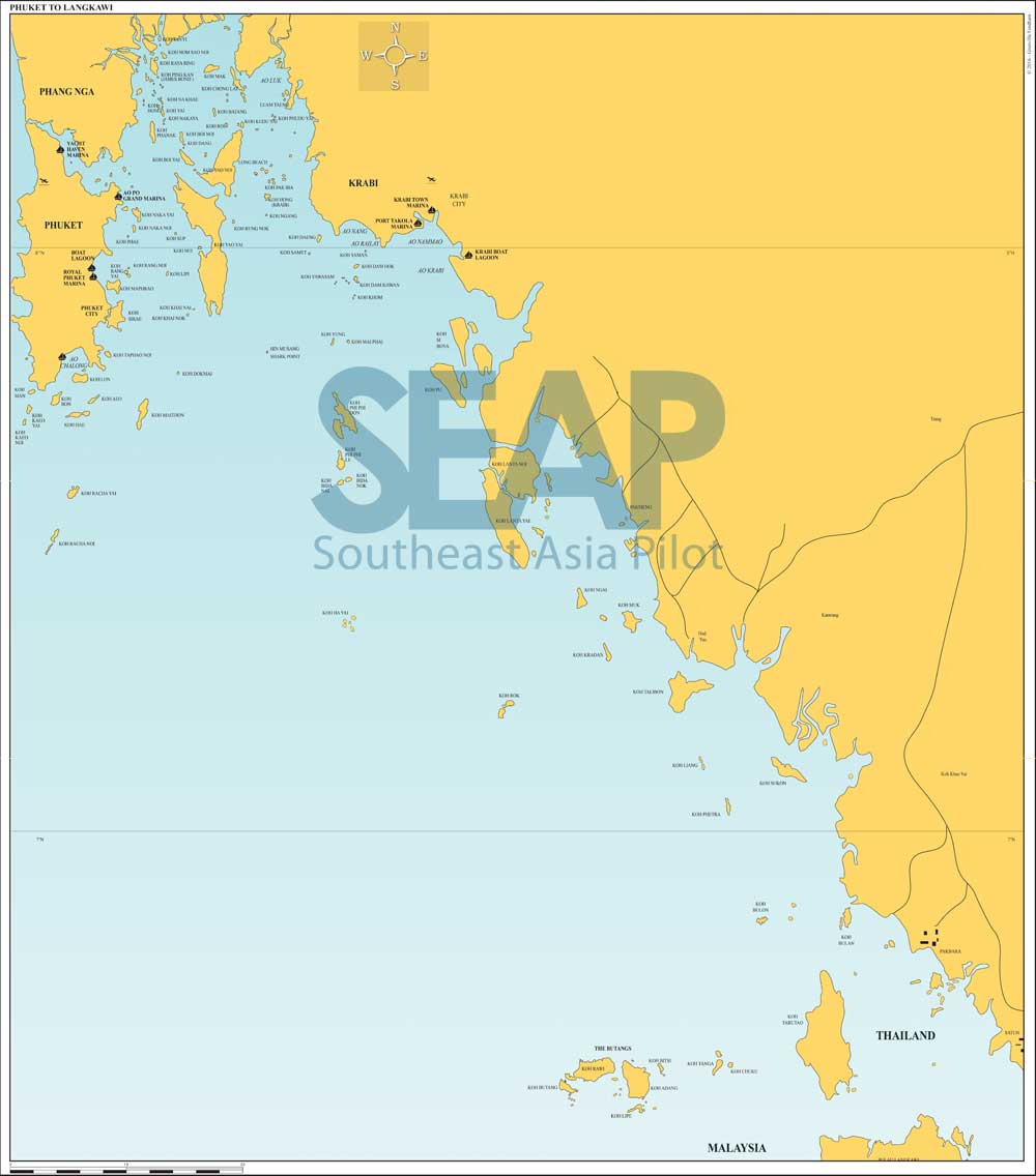 Phuket to Langkawi chart