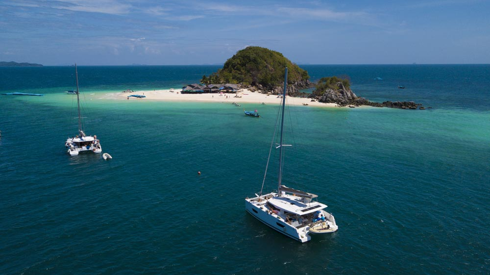 Spoiled for choice of where to anchor at Koh Khai Nok
