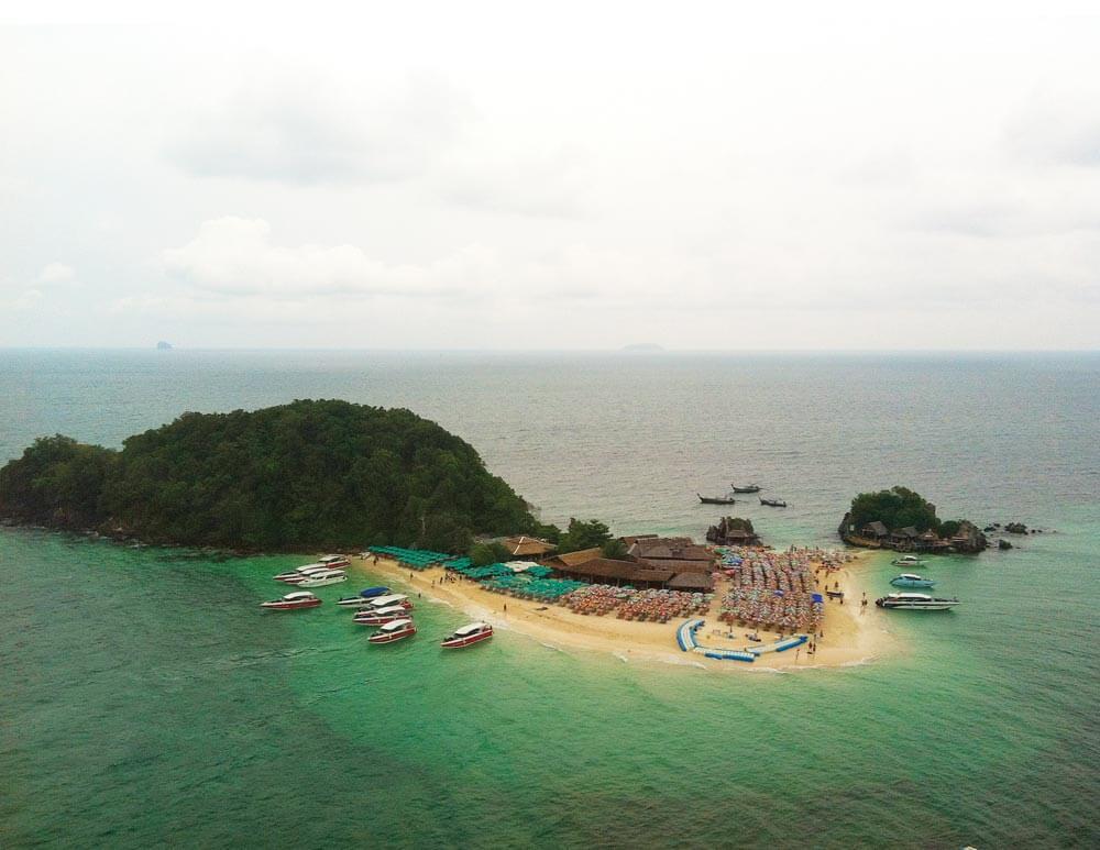 Aerial photo of Koh Khai Nok