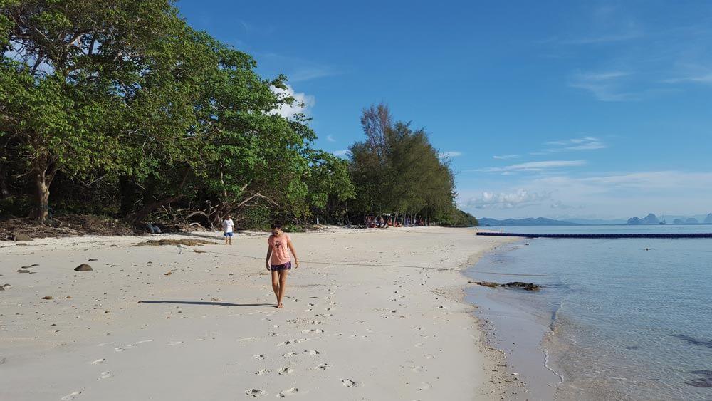 Deserted beach at Koh Naka Yai