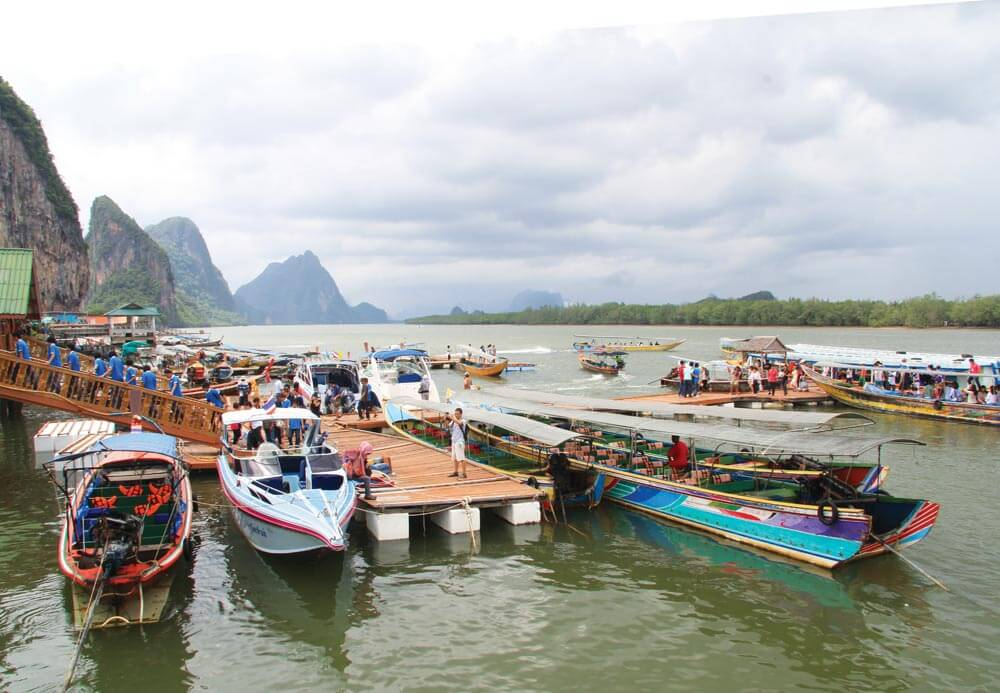The famous floating village at Koh Pan Yi