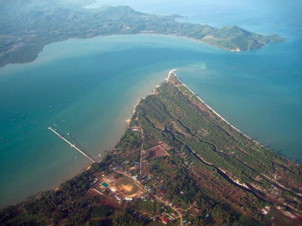 Easter entrance to the Koh Yao Channel