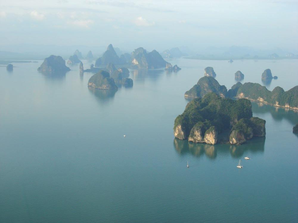 Phang Nga's mysterious sea-mountains (karsts)