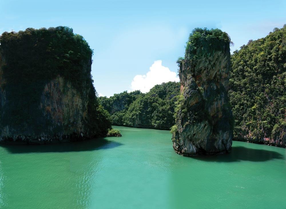 Phang Nga Bay's dramatic limestone karsts