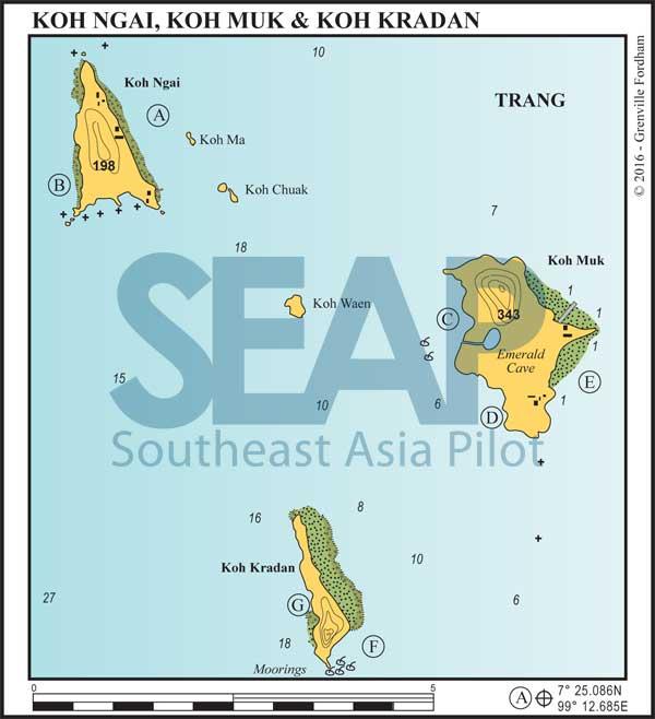 Koh Ngai, Koh Muk & Koh Kradan chart
