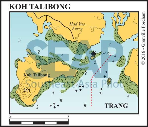 Koh Talibong - Approach to Trang's Kantang River