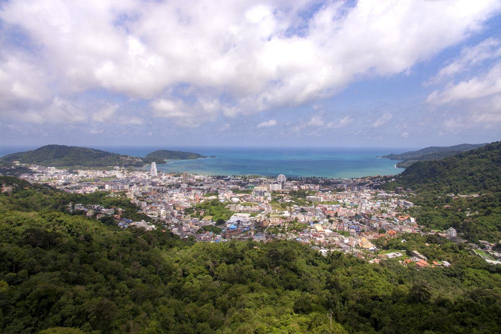 Looking down on Patong City