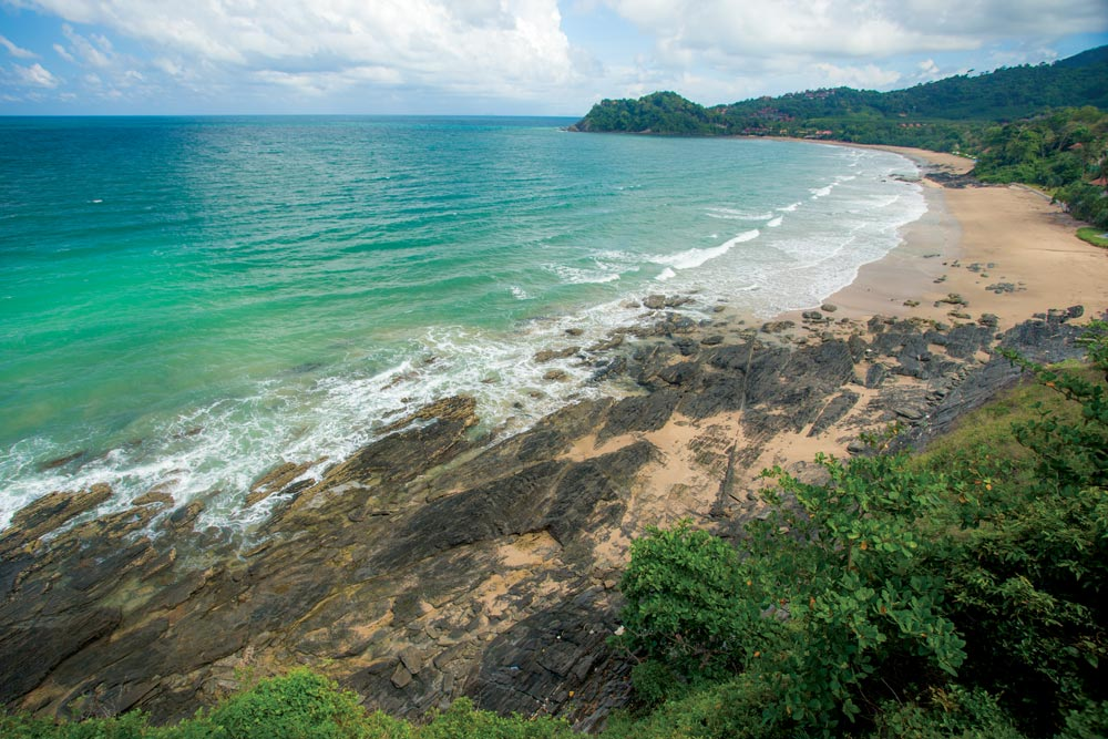 Empty beach on the west coast of Koh Lanta